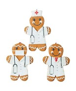 RAZ Imports Nurse and Doctor Gingerbread Ornaments (Set of 3) Healthcare... - $22.99