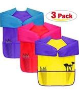 Dreampark Children Art Smock (3 Pack) Kids Art Aprons With Waterproof L... - $36.98