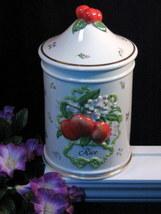 Vintage Le Cordon Bleu Franklin Mint Apple Pattern Rice Canister 1989 - $124.99