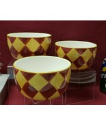 Three (3) CIB Certified Inter China CHEF's COLLECTION CEREAL BOWLS (red/... - $34.95