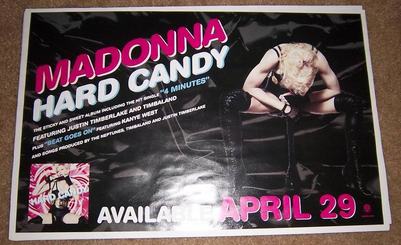 Madonna Hard Candy Limited Edition 2008 Promotional Poster