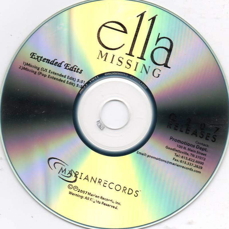 Ella Missing U.S. Extended Edit CD Single