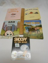 lot 5 kids books electronic education & Snoopy To The Moon Peanuts Schulz - $6.92