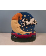 """Cast Iron Doorstop """"The Cow Jumped Over The Moon"""" marked HZO - $15.43"""