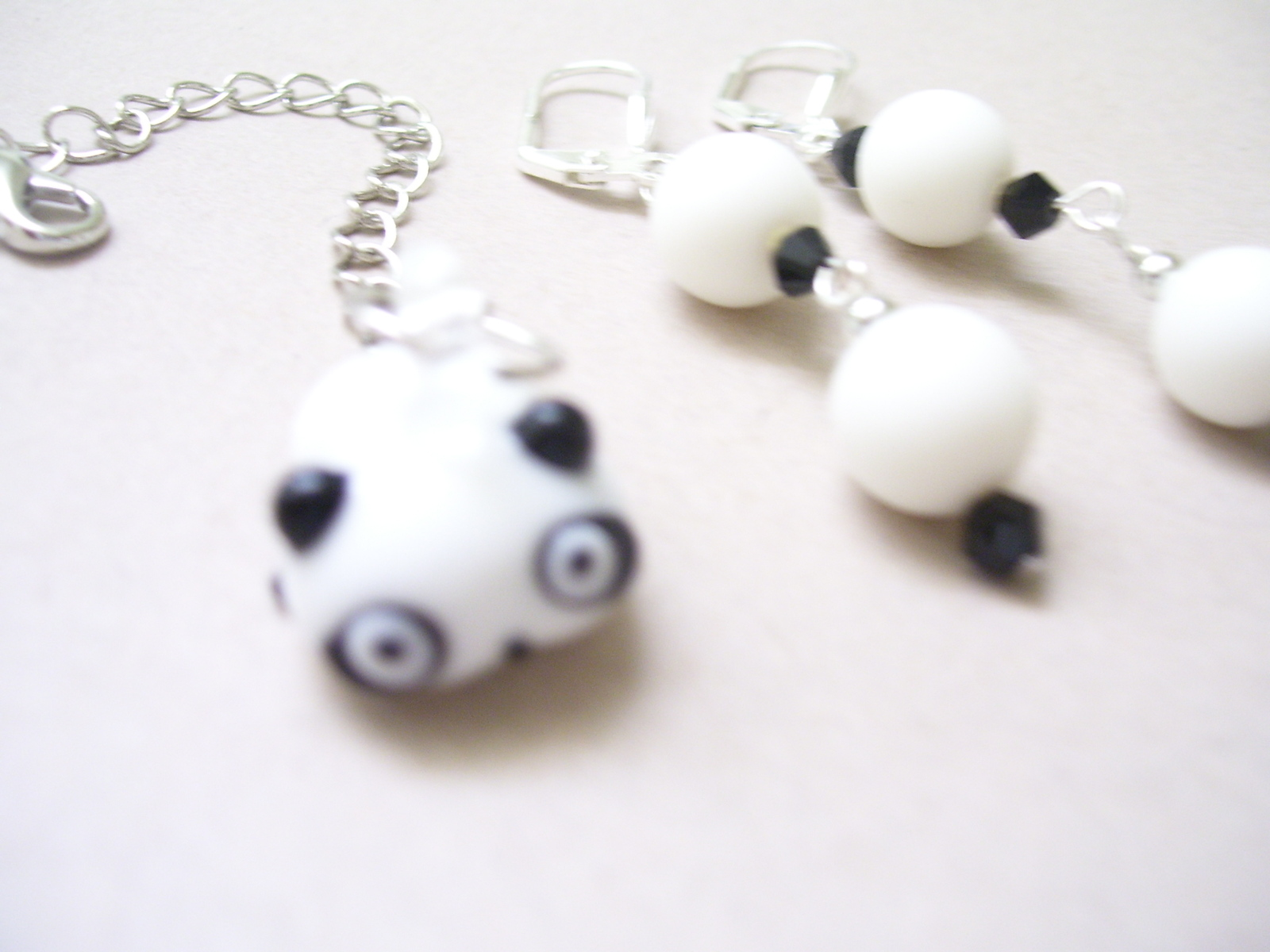 Pandamonium Zipper Chain and Earrings