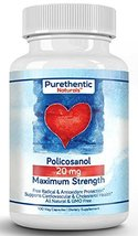 Policosanol 20mg, 100 Vcaps, Purethentic Naturals 1 Bottle image 12