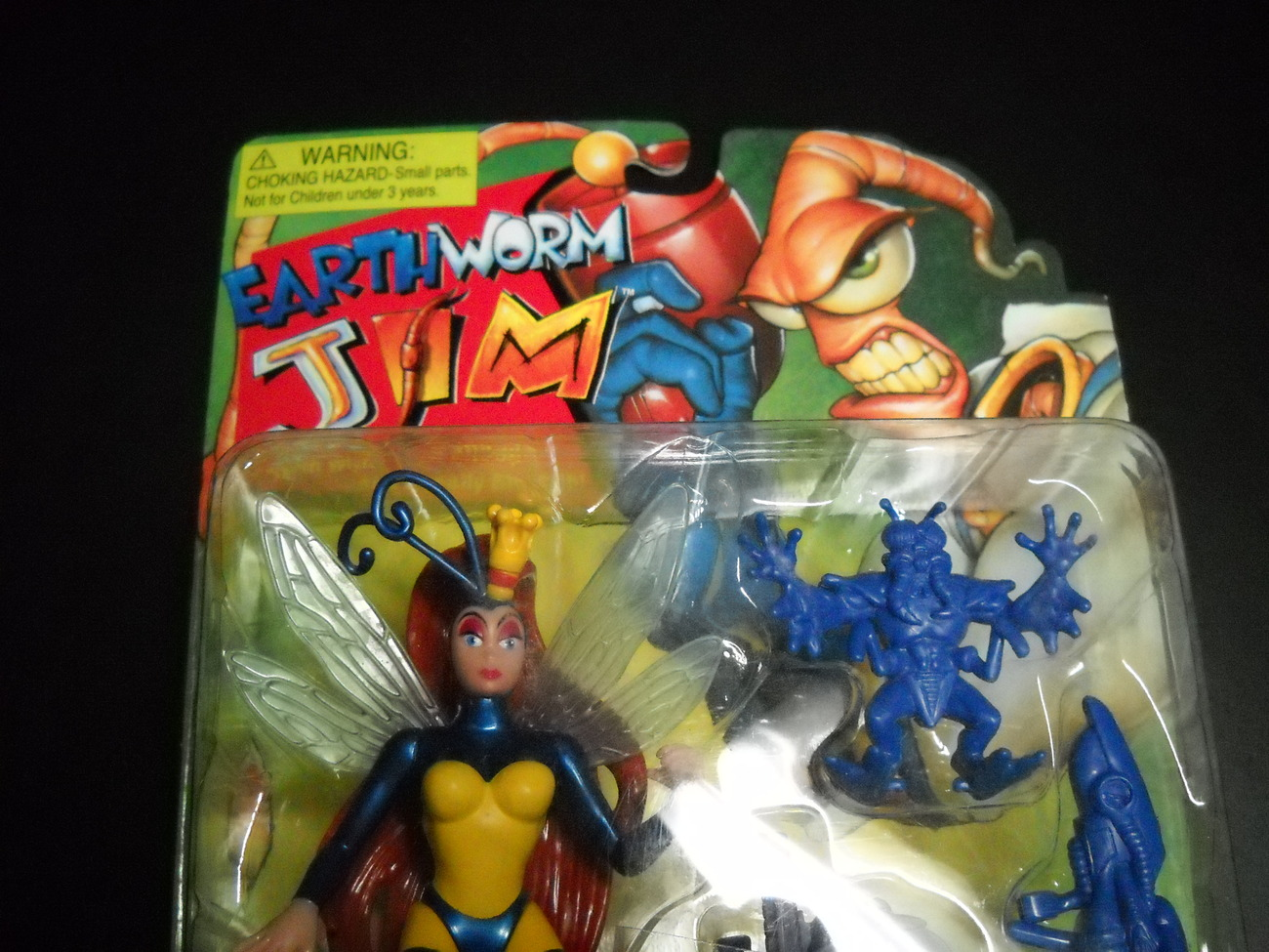 Earthworm Jim Princess What's Her Name Playmates New Still Sealed On Card
