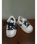 Nike Baby Air Force 1 High Top Gym Shoes 314194-147 White Blue Size 4 C Boys - $24.70