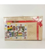 Vintage 1981 Caron Merry Christmas Latch Hook Rug Wall Hanging Kit K3363... - $125.00
