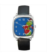 Grinch Stole Christmas Round & Square Leather Strap Watch - $11.99