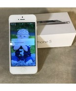 Apple iPhone 5 16gb White & Silver A1429 - $59.39