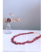 Coral Necklace, Coral Jewelry, Bohemian Jewelry, Summer Jewelry,24K Gold... - $69.00