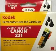 Kodak - CLI-221BK-KD - Black inkjet cartridge for Canon 221 2946B001  - $10.84