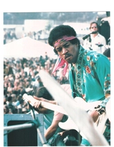 Jimi Hendrix Newport Festival Vintage 11X14 Matted Color Music Memorabil... - $12.99
