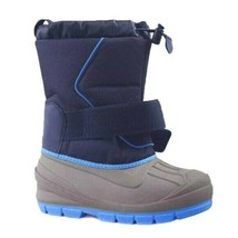 Cat & Jack Boys Kids Youth Blue Gray Cordie Thermolite Insulation Winter Boots  image 2