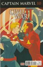 Captain Marvel #10 NM- 2017 Marvel Comics Civil War II Gage 1st print - $2.96