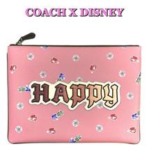 COACH Disney HAPPY Gems Bag Snow White Collection Pink Large Wristlet 30... - $165.73 CAD