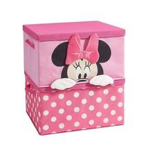 Disney Minnie Mouse Figural 2 Piece Stackable Storage Set, Pink - $56.99