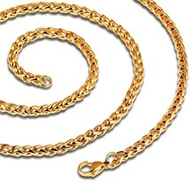 Stainless Steel Gold Plated Cuban Curb Chain Link Necklace Chain - $15.39