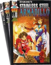 Stainless Steel Armadillo Lot (3) Issues #1 #3 #4 (1995>) Antarctic Press Comics - $9.89