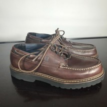 Tommy Hilfiger Heavy Duty Leather Boat Shoes Men's Size 11 M Brown. Wate... - $33.66