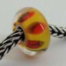 Authentic Trollbeads Retired Red Shadow (D) Bead Charm, 61310 New - $23.59
