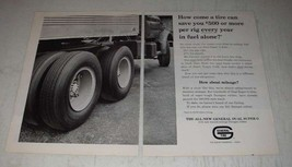 1963 General Tire Dual Super G Ad - How come a tire can save you $500 or... - $14.99