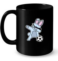 Dabbing Easter Bunny Soccer Ball Gift Coffee Mug - $13.99+