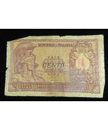 REPUBBLICA ITALIANA BIGLIETTO di STATO 31.12.1951 100 LIRE NTE BANK PAPE... - $10.00