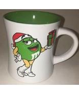 M&Ms Happy Holidays Green White Ceramic Coffee Mug m&m's Christmas 2008 ... - $14.00