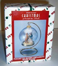 House of Lloyd FLIGHT TO EGYPT Christmas Ornament & Stand, IOB - $14.00