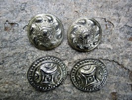 Vintage Handcrafted Ancient Shield Clip On Earrings- 2 Pairs - $9.50