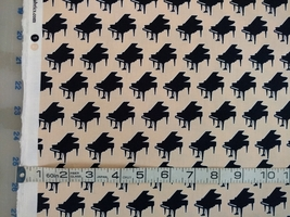 1/2 yard Music/piano grand piano keyboard quilt fabric -free shipping image 4