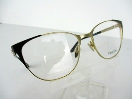 Calvin Klein Ck 8041 (001) Black / Gold 53 X 16 135 mm Eyeglass Frame - $70.08