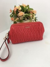Coach Madison Twist Leather Wristlet Bag Clutch 50472 Bright Scarlet B28 - $98.95