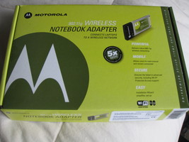 Motorola 802.11g Wireless NOTEBOOK Adapter, - $20.00