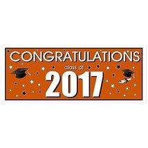 Congratulations Class of 2017 Graduation Banner - Burnt Orange - £22.88 GBP