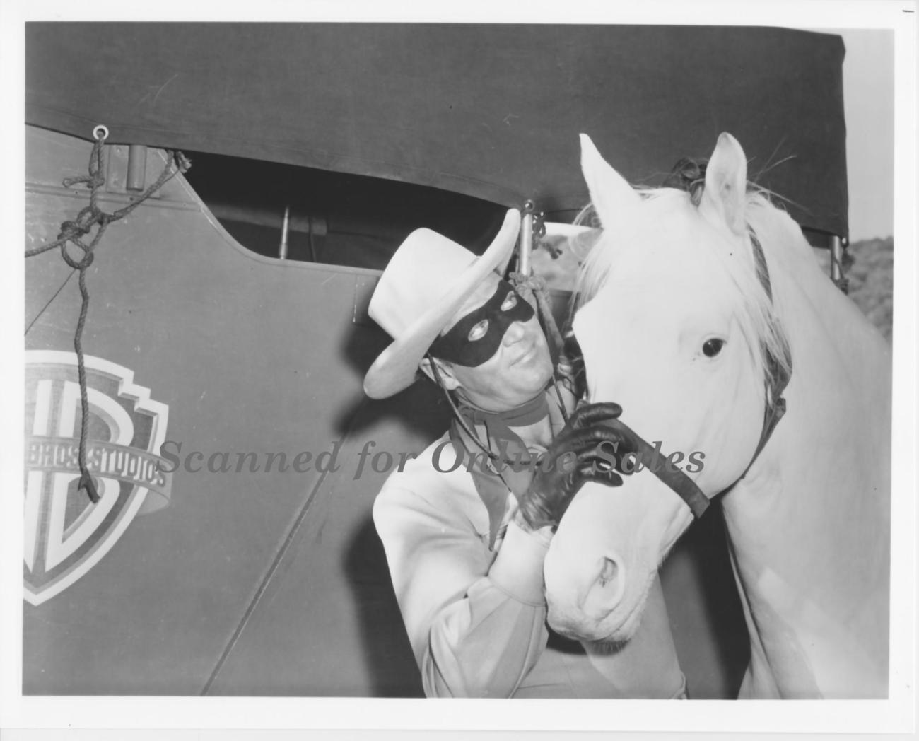 Lone Ranger Talks to Silver 8x10 Photo