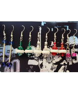 wholesale earrings lot 5 pairs bead drop dangles glass plastic beads han... - $6.99