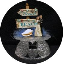 Wedding Cake Topper Beach Ocean Honeymoon Lake tropical Island Groom top Shower - $36.52
