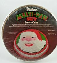 Wilton Santa Claus Cake Multi-Pan Set Jolly #2105-387 New sealed Vintage... - $14.84