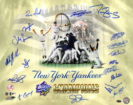 New York Yankees signed 16x20 Photo 1998 WS Champions Celebration Collag... - $158.95