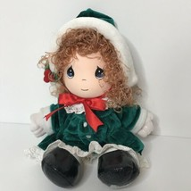 "Precious Moments Applause 1993 Plush Doll Christmas Dress Hat 11"" Tall F... - $15.83"