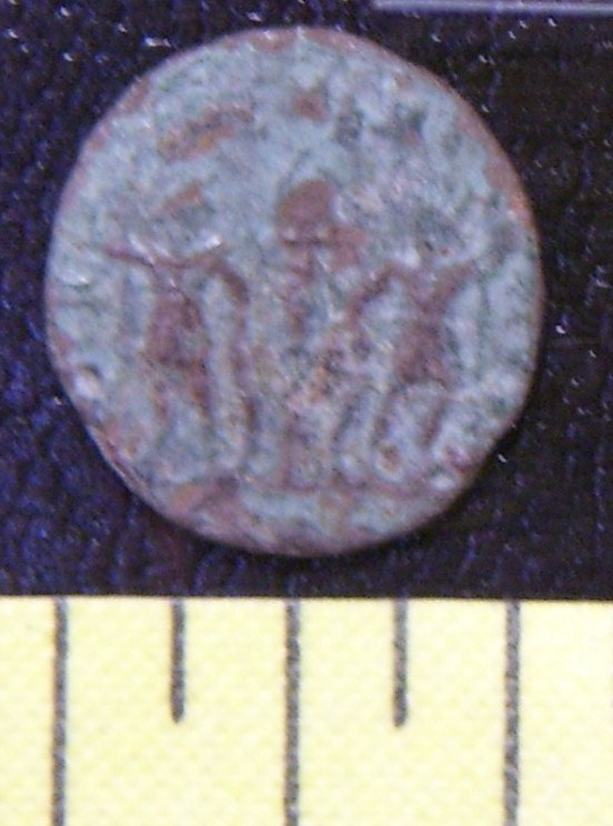 """Ancient Roman Coin """"Two Soldiers"""" #4 Unattributed AD 300+"""