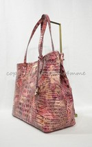 Brahmin Medium Julian Croc-Embossed Leather Tote/Shoulder Bag Wisteria M... - $239.00