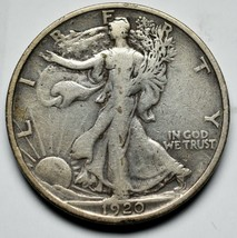 1920S Walking Liberty Half Dollar 90% Silver Coin Lot# A 228