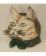 Striped Kitty with Green Eyes Button Cover Mark... - $4.00