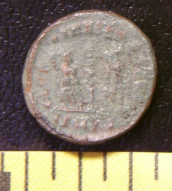 """Ancient Roman Coin """"Two Soldiers"""" #7 Unattributed AD 300+"""