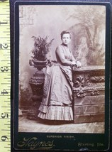 Cabinet Card Beautiful Young Lady Studio Info! c.1866-80   - $5.60