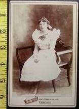 Cabinet Card Beautiful Young Teen White Dress! c.1866-80  - $8.00